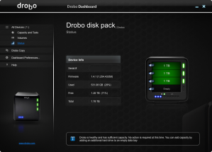 Drobo Status Screenshot
