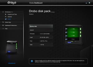 Drobo Status Screenshot
