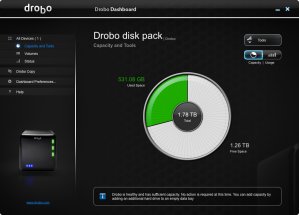 Drobo Capacity Screenshot
