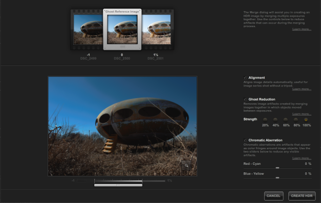 HDR Efex Pro 2 Merge Dialog Assistant