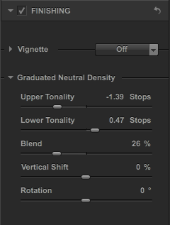 HDR Efex Pro 2 Graduated Neutral Density Controls