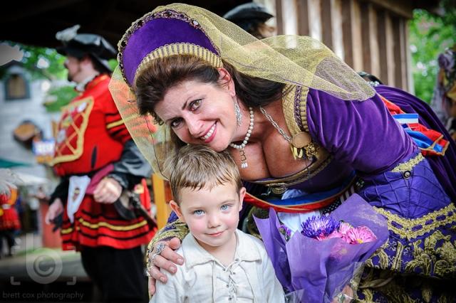 Brady with Queen Anne Boleyn